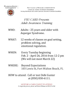Adult training flyer