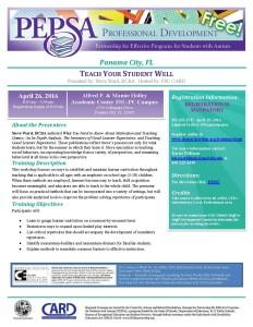 FSU_TeachYourStudentWell_Flyer