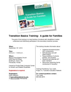 Transition Basics Flyer - 9.16amPNS