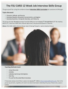 Flyer-The FSU CARD Job Interview Skills Group
