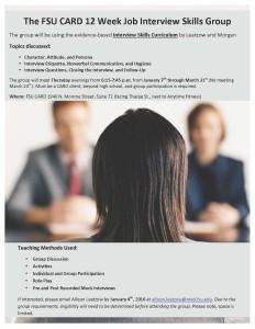Flyer-The FSU CARD Job Interview Skills Group