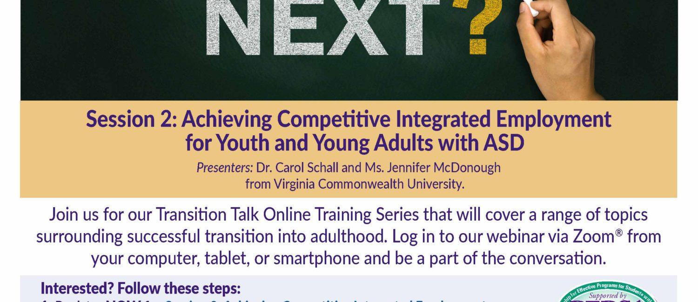 Transition Talk Online Training Series